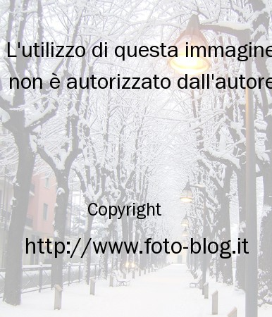 Neve nell'hinterland milanese